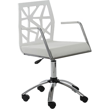Euro Style™ Sophia Leatherette Office Chair, White