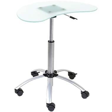 Euro Style™ Malcolm Glass Laptop Stand, Aluminum