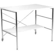 Euro Style™ Ida High Gloss Lacquer MDF Desk, White