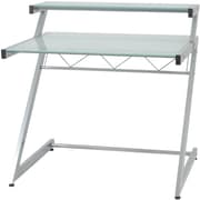 Euro Style™ Z Deluxe Aluminum/Tempered Frosted Glass Small Desk