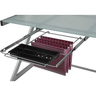 Euro Style™ L Hanging File and Pencil Tray, Aluminum