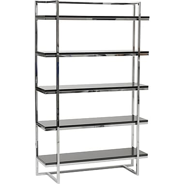 Euro Style™ Gilbert 62in. Wood 5-Shelf Unit, Black
