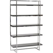 "Euro Style™ Gilbert 62"" Wood 5-Shelf Unit, Black"