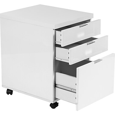 Eurostyle Gilbert 5 Drawer Mobile/Pedestal File, White,Letter/Legal, 16.5''W (27536WHT)