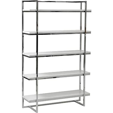 Euro Style™ Gilbert 62in. Wood 5-Shelf Unit, White