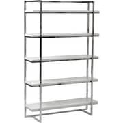 "Euro Style™ Gilbert 62"" Wood 5-Shelf Unit, White"