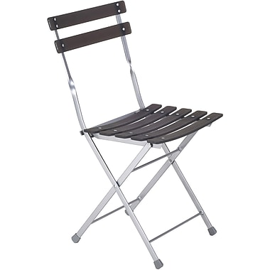 Euro Style™ Cannes Resin Armless Folding Chair, Graphite Black