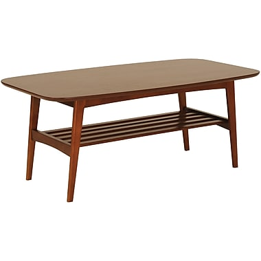 Euro Style™ 17 1/2in. x 43 1/2in. x 23 1/2in. Carmela MDF Coffee Table, Walnut