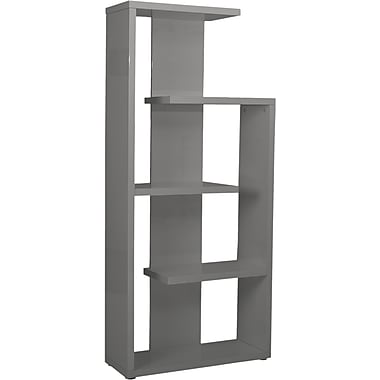 Euro Style™ Robbie 69 1/2in. Wood Shelving Unit, Gray