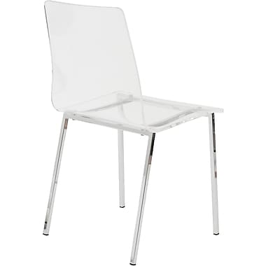 Euro Style™ Chloe Acrylic Dining Side Chair, Clear