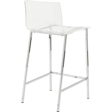Euro Style Chloe B Acrylic Bar Stool Clear Staples