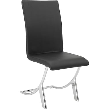 Euro Style™ Cordelia Leatherette Dining Side Chair, Black