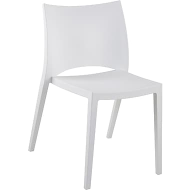Euro Style™ Leslie Polypropylene Side Chair, White