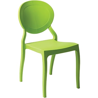 Euro Style™ Vasska Polypropylene Dining Side Chair, Green
