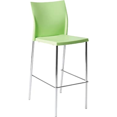 Euro Style™ Yeva-B Polypropylene Bar Stool, Green