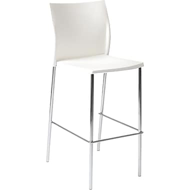 Euro Style™ Yeva-B Polypropylene Bar Stool, White