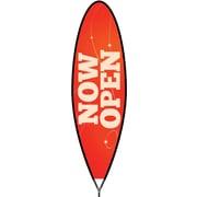 Metrix™ Poppy Red 12' The Bullet™ Advertising Flag, Now Open