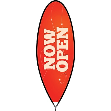 Metrix™ Poppy Red 15' The Bullet™ Advertising Flag, Now Open