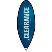 Metrix™ Monaco Blue 15' Bullet™ Flag, Clearance