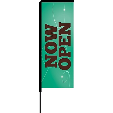 Metrix™ Emerald 8.5' Elbow Banner™, Now Open