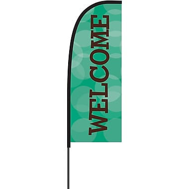 Metrix™ Emerald 7' Flex Banner™, Welcome