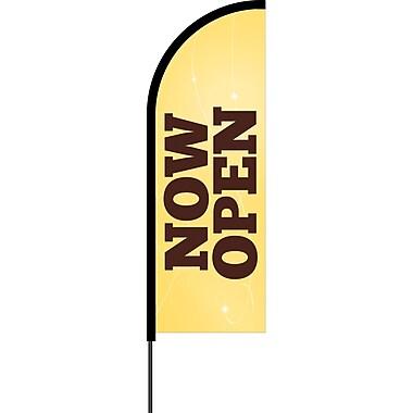 Metrix™ Lemon Zest 11' Flex Banner™, Now Open