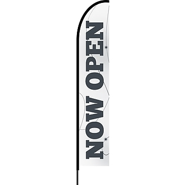 Stylo™ White 15' Flex Banner™, Now Open