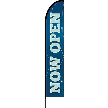 Stylo™ Monaco Blue 15' Flex Banner™, Now Open