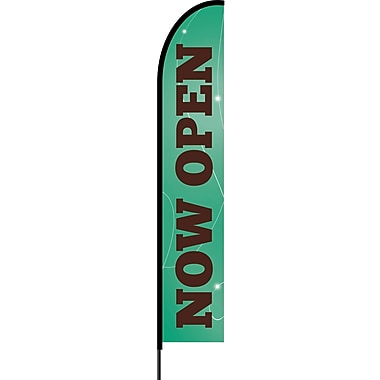 Stylo™ Emerald 15' Flex Banner™, Now Open
