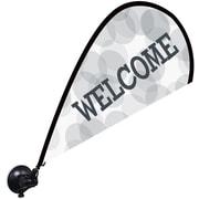 "Metrix™ White 29 1/2"" The Flex Blade® Window Flag, Welcome"