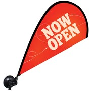 Metrix™ Poppy Red 29 1/2 The Flex Blade® Window Flag, Now Open