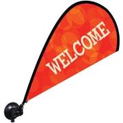 "Metrix™ Poppy Red 29 1/2"" The Flex Blade® Window Flag, Welcome"