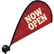 "Metrix™ Beaujolais 29 1/2"" The Flex Blade® Window Flag, Now Open"