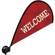 Metrix™ Beaujolais 29 1/2 The Flex Blade® Window Flag, Welcome
