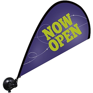 Metrix™ Acai 29 1/2in. The Flex Blade® Window Flag, Now Open