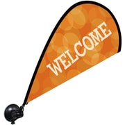 "Metrix™ Koi 29 1/2"" The Flex Blade® Window Flag, Welcome"