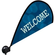 Metrix™ Monaco Blue 29 1/2 The Flex Blade® Window Flag, Welcome
