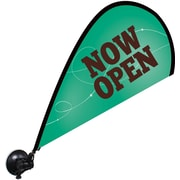 "Metrix™ Emerald 29 1/2"" The Flex Blade® Window Flag, Now Open"