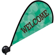 "Metrix™ Emerald 29 1/2"" The Flex Blade® Window Flag, Welcome"