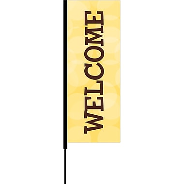 Metrix™ Flex Blade® Lemon Zest 8.5' Flying Banner, Welcome