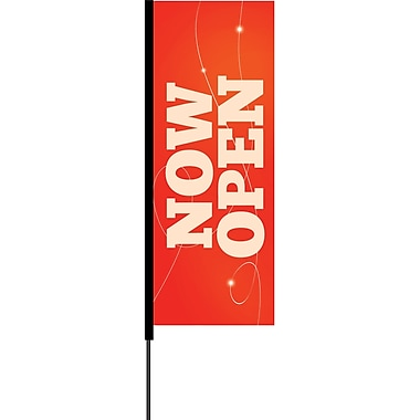 Metrix™ Flex Blade® Poppy Red 8.5' Flying Banner, Now Open