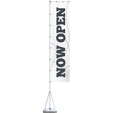 Metrix™ White 23' Giant Flag, Now Open