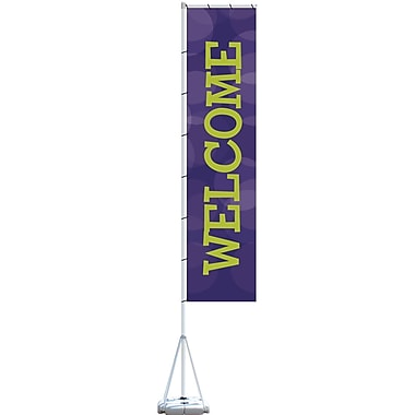 Metrix™ Acai 23' Giant Flag, Welcome