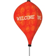 Metrix™ Poppy Red 8' The Twizla™ 3 Sided Advertising Flag, Welcome