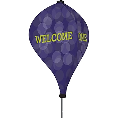 Metrix™ Acai 8' The Twizla™ 3 Sided Advertising Flag, Welcome