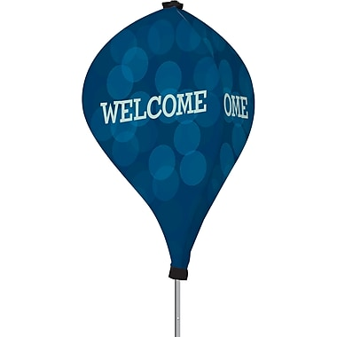 Metrix™ Monaco Blue 8' The Twizla™ 3 Sided Advertising Flag, Welcome