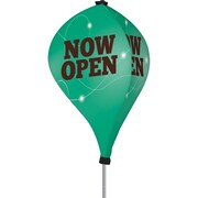 Metrix™ Emerald 8' The Twizla™ 3 Sided Advertising Flag, Now Open