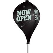 Metrix™ Black 8' The Twizla™ 3 Sided Advertising Flag, Now Open