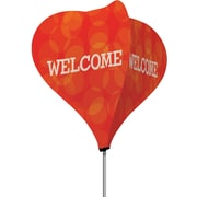Metrix™ Poppy Red 8' The Twizla™ 4 Sided Advertising Flag, Welcome