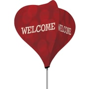 Metrix™ Beaujolais 8' The Twizla™ 4 Sided Advertising Flag, Welcome